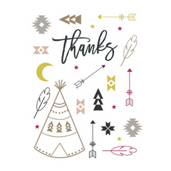 Bohemian Tribal Thank You Cards