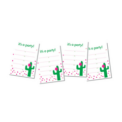 It's A Party Cactus Invitations