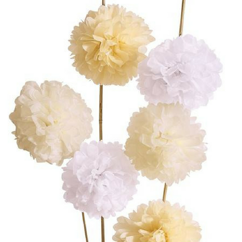 Shades of Nude Paper Pom Poms