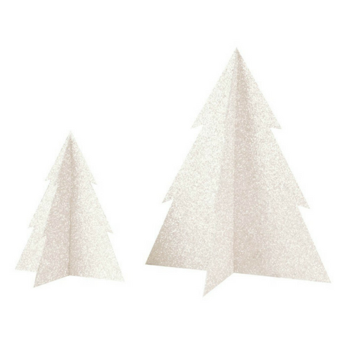 White Glitter Christmas Tree