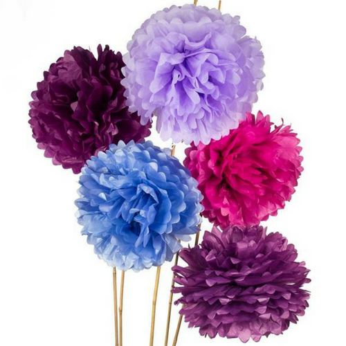 Shades of Purple Pom Poms