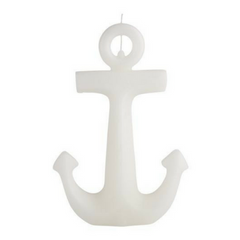White Anchor Candle - Large