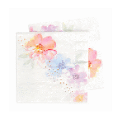Floral and Rose Gold Napkin