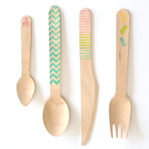 Summer Fun Stamped Cutlery