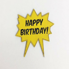 "Superhero ""Happy Birthday"" Cake Topper"