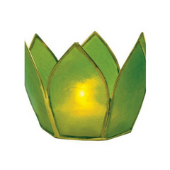 Green Lotus Tea Light Candle Holder