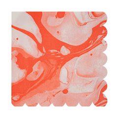 Orange Marble Napkins