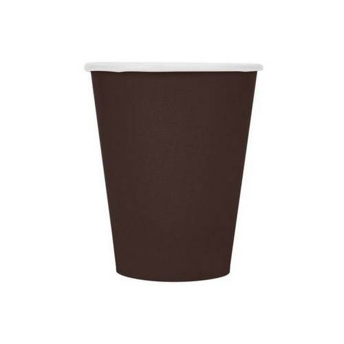 Chocolate Brown 9 oz Cups