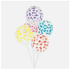 Multicolored Confetti Patterned Balloons