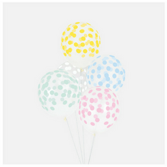 Pastel Confetti Patterned Balloons