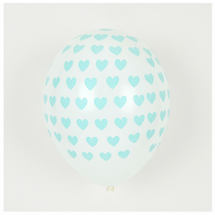 Balloon Pack - Aqua Hearts