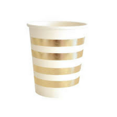 Gold Foiled Stripe Cups