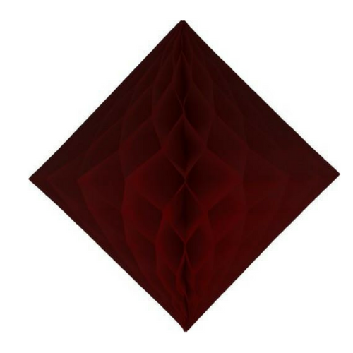 Burgundy Diamond Honeycombs