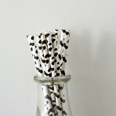 Cow  Print Paper Straws - Set of 25