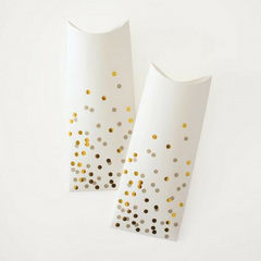 Gold Confetti Pillow Boxes