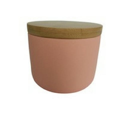 Ceramic Pink Canister