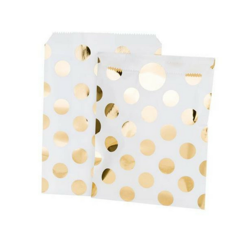 Metallic Gold Dot Treat Bags