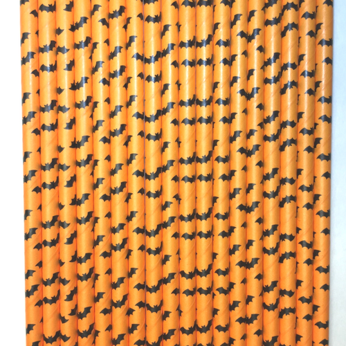 Halloween Bat Paper Straws -Set of 25