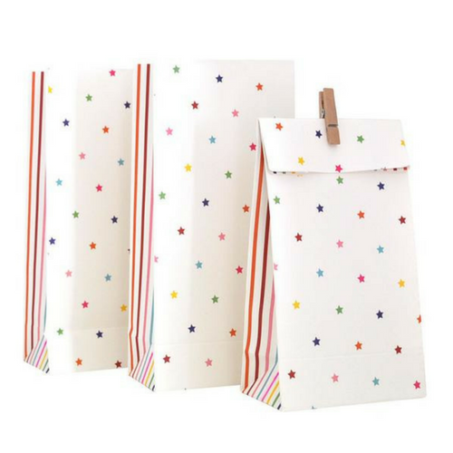 Rainbow Stripe & Star Treat Bags