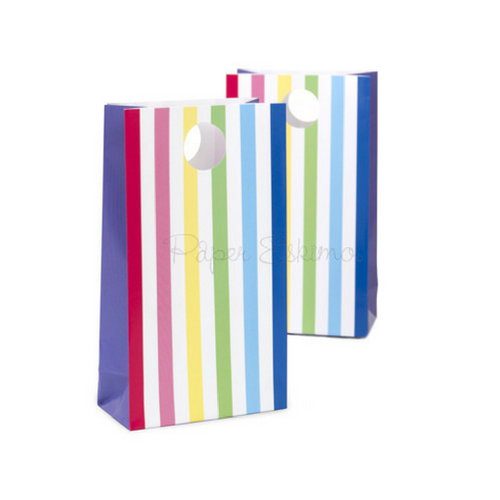 Rainbow Stripe Treat Bags