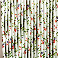 Floral Paper Straws  -Set of 25