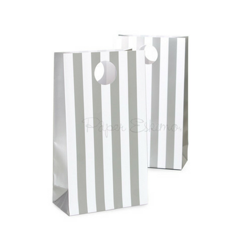 Grey Stripe Treat Bags