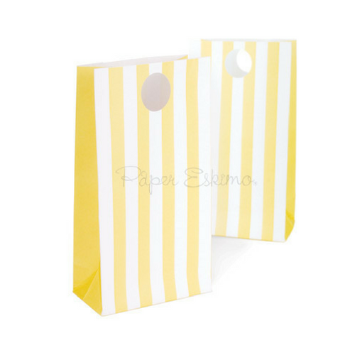 Yellow Stripe Treat Bags
