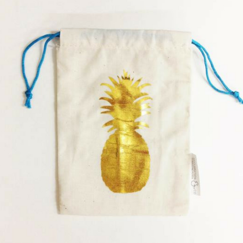 Gold Pineapple Gift Bag
