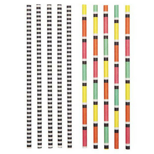 Throw Back Striped Paper Straws
