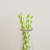 Lime Green Striped Paper Straws