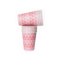 Pink Geo Patterned Cups
