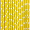 Heart Patterned Paper Straws, 3 Styles