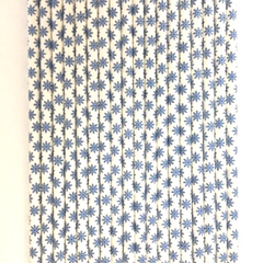 Blue Snowflake Paper Straws -Set of 25