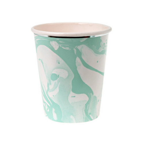 Mint Marble Cups