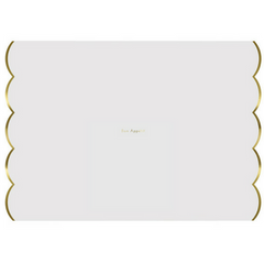 White & Gold Foil Placemats