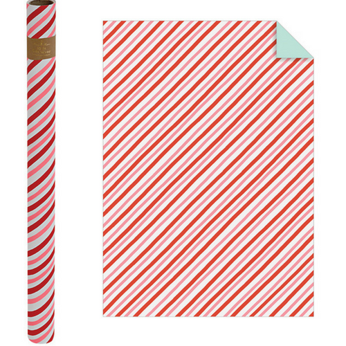 Candy Cane Stripe Gift Wrap