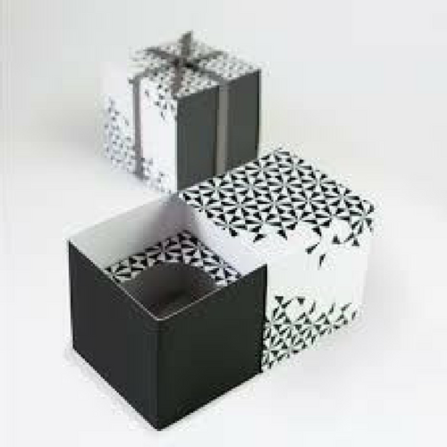 Black Geometric - Cupcake Box