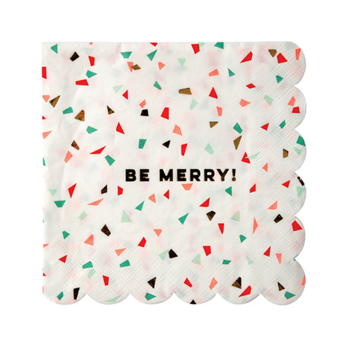 Be Merry With Confetti Napkins