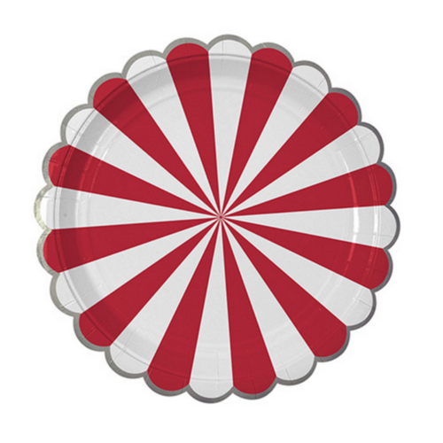 Candy Stripe Red Plates