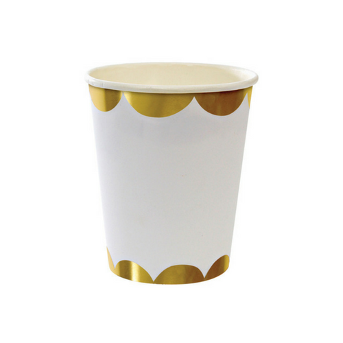Gold Foiled Scalloped Cup