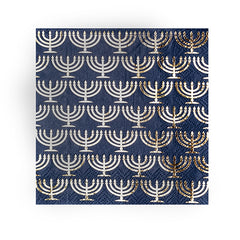 Menorah Cocktail Napkin