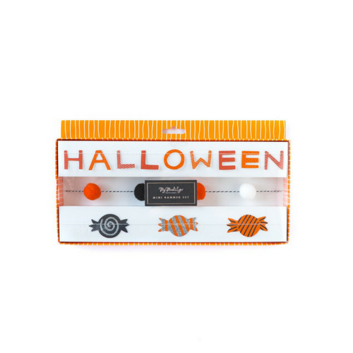 Happy Halloween Mini Banner Set