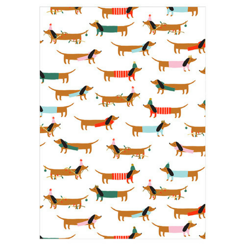 Weiner Dog Wrapping Paper