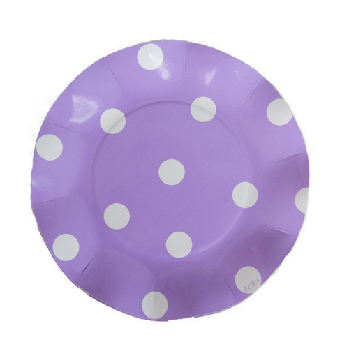 lilac ruffled polka dot paper plates  sc 1 st  Jollity \u0026 Co. & Lilac Polka Dot Ruffled Plates \u2013 Jollity \u0026 Co Party Boutique