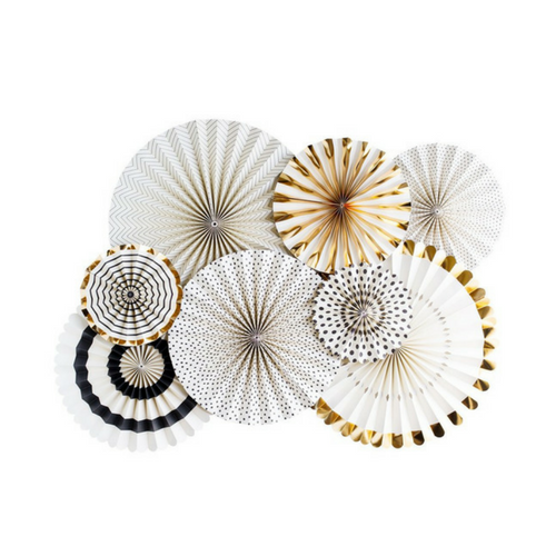 BLACK AND GOLD ROSETTES