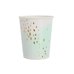 Mint Watercolor Cups