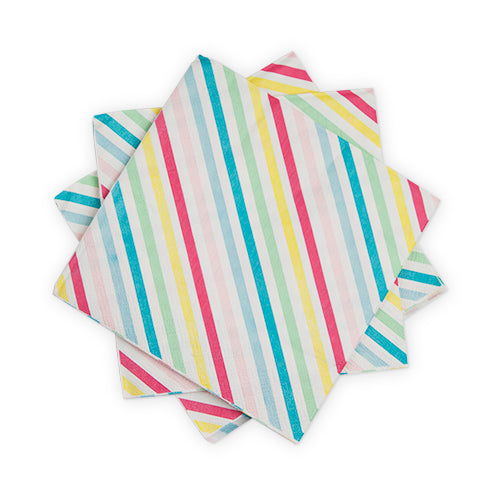 Candy Striped Cocktail Napkin