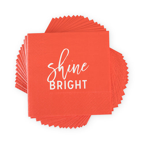 """Shine Bright"" Cocktail Napkins"