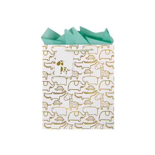Gold Foil Safari Gift Bag