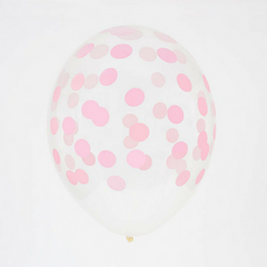 light pink confetti printed balloon